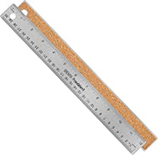 Breman Precision Metal Rulers 12 Inch - Stainless Steel Corked Backed Metal Ruler - Premium Straight Edge Metal Ruler - Flexible Non Slip Stainless Steel Ruler - Inch and Metric Steel Ruler 12 Inch