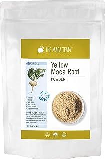 Sponsored Ad - The Maca Team – Yellow Maca Root Powder Gelatinized – 100% Certified Organic & Fair Trade – GMO-Free – 1 Po...