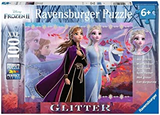 Ravensburger 12868 Disney Frozen 2 - Strong Sisters - 100 Piece Jigsaw Puzzle with Glitter for Kids - Every Piece is Unique - Pieces Fit Together Perfectly