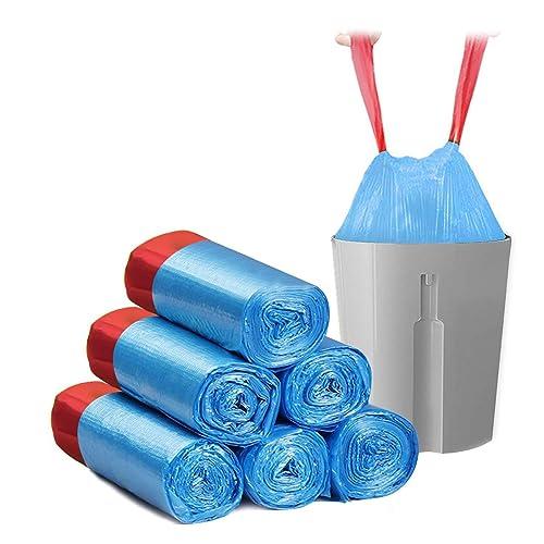 HCLKSTORE Sac Poubelle, 30L Sacs poubelles Pratiques Robustes et durables, poubelles pour Bureau, Cuisine, Salon, Chambre à Coucher, Salle de Bains, etc. 45 pièces (Bleu)