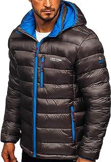 Jeansian/ giacca casual con zip /Giacca slim fit con cappuccio sportiva 8945