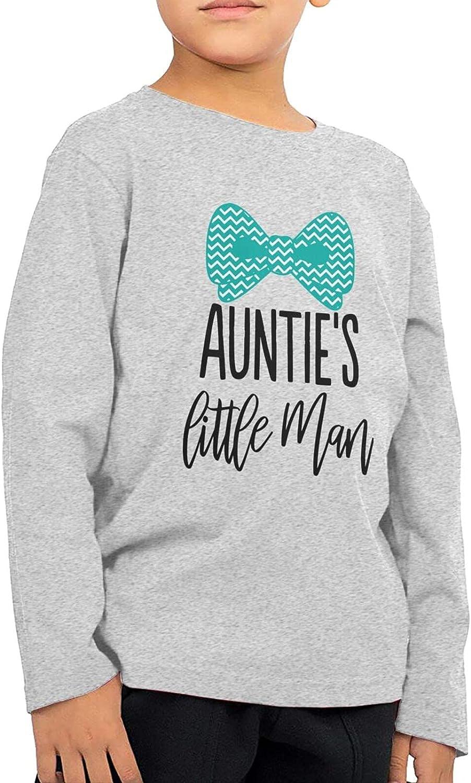 Auntie's Lil Man Kids Long Sleeve Shirts Cotton Sweatshirt Novelty T-Shirt Top Tees 2-6 Years