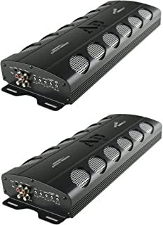 Audiopipe APCLE-18001D Class D 1800 Watt RMS Monoblock Amp Kit Car Audio Sound System Amplifier with Bass Knob and Overloa...