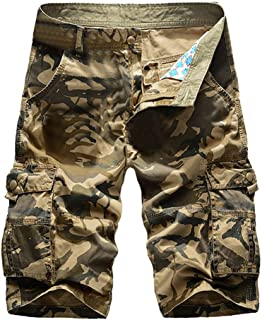Benficial Men's Casual Camouflage Color Outdoors Pocket Beach Work Trouser Cargo Shorts Pant