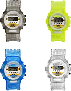 Colorful Digital Watches for Boys 4-Pack – Waterproof...