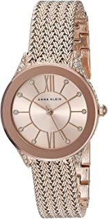 Anne Klein Watch for Women - Analog, Stainless Steel Band - 2208RGRG