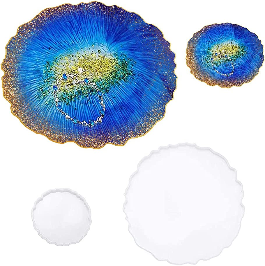 Round Silicone Max 77% OFF Resin Molds Tray with Co Irregular 1 New item molds