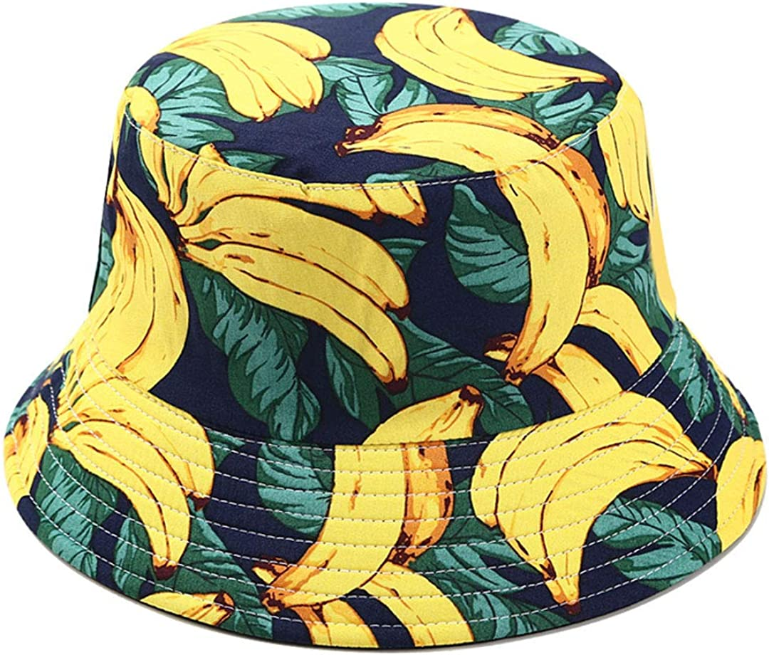 Joylife Fruit San Francisco Mall Print Las Vegas Mall Bucket Hat Hats Sum Pattern Banana Fisherman