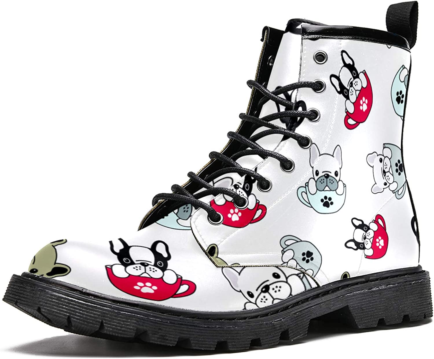 WNENG Men's High-Top wholesale Fashion Special price for a limited time Boot Pug Bulldog