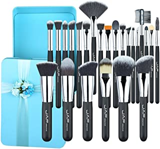 Valentine's 24pcs Makeup Brushes Excellent Gift Synthetic Make Up Brush Set Green Box Packing for Make-up Lady #J2418GN-B Makeup Brushes & Tools
