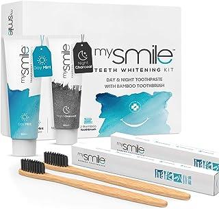 mysmile Whitening Tandpasta Tandenbleekset met bamboe tandenborstel - Natuurlijk thuis tanden bleken - Vrij van peroxide -...