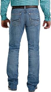 Cinch Men's Ian Medium Stonewash Performance Slim Bootcut Jeans