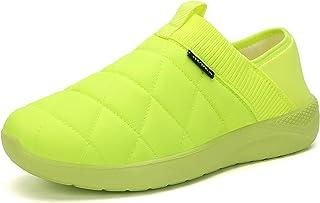 شباشب KUBUA للرجال والنساء داخل المنزل أحذية قطيفة سهلة الارتداء في الهواء الطلق حديقة متسكعون أخضر