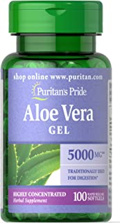 Puritan's Pride Aloe Vera Extract 25 mg-100 Softgels