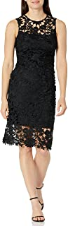 Floral Embroidered Lace Women's Sheath Dress