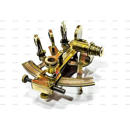 Antique Beautiful Brass Marine Nautical Sextant Navigation Astrolabe Maritime