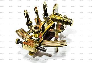 Sailor's Art Antique Brass Nautical Sextant Wooden Box-Navigation Instruments..