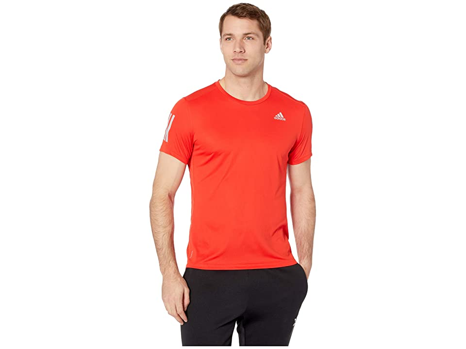 adidas Own The Run Tee (Active Red/Reflective Silver) Men's T Shirt