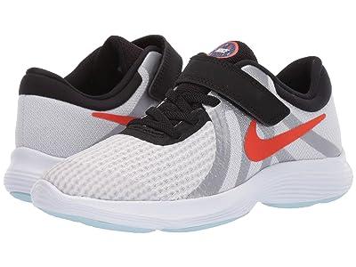 Nike Kids Revolution 4 SD (Little Kid) (Pure Platinum/Team Orange/Black) Boys Shoes