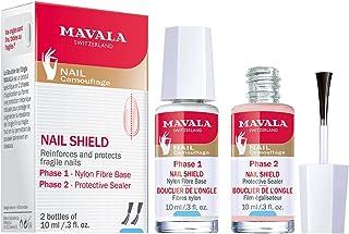 Mavala Nail Shield Tramiento Fortalecedor de Uñas y Escudo Protector | Lote Kit de Manicura Base 10ml + Sellador Protector...