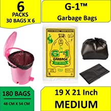G1 Garbage Bags And Covers Medium Size Black Color 19 X 21 Inch 180 Pieces