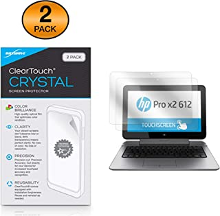 HP Pro x2 612 G2 Tablet Screen Protector, BoxWave® [ClearTouch Crystal (2-Pack)] HD Film Skin - Shields from Scratches for HP Pro x2 612 G2 Tablet