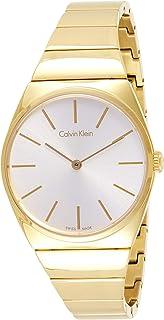 Calvin Klein Womens Quartz Watch, Analog Display and Stainless Steel Strap K6C2X546
