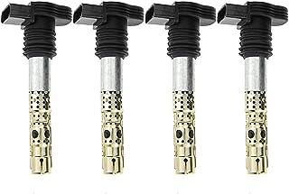 A-Premium Ignition Coils Pack Compatible with Audi A4 A6 Allroad TT Quattro Volkswagen Beetle Golf Jetta Passat 1.8L 2.7L ...