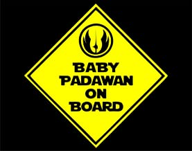 Diamond Graphics Baby Padawan On Board Sign (6