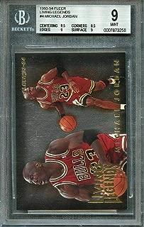 1993-94 fleer living legends #4 MICHAEL JORDAN chicago bulls BGS 9 (9.5 8.5 9 9) - Basketball Slabbed Cards
