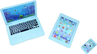 Brittany's Blue Media Set , Laptop, Smart Phone and Tablet-Compatible with 18 Inch Dolls Compatible with American Girl Dolls