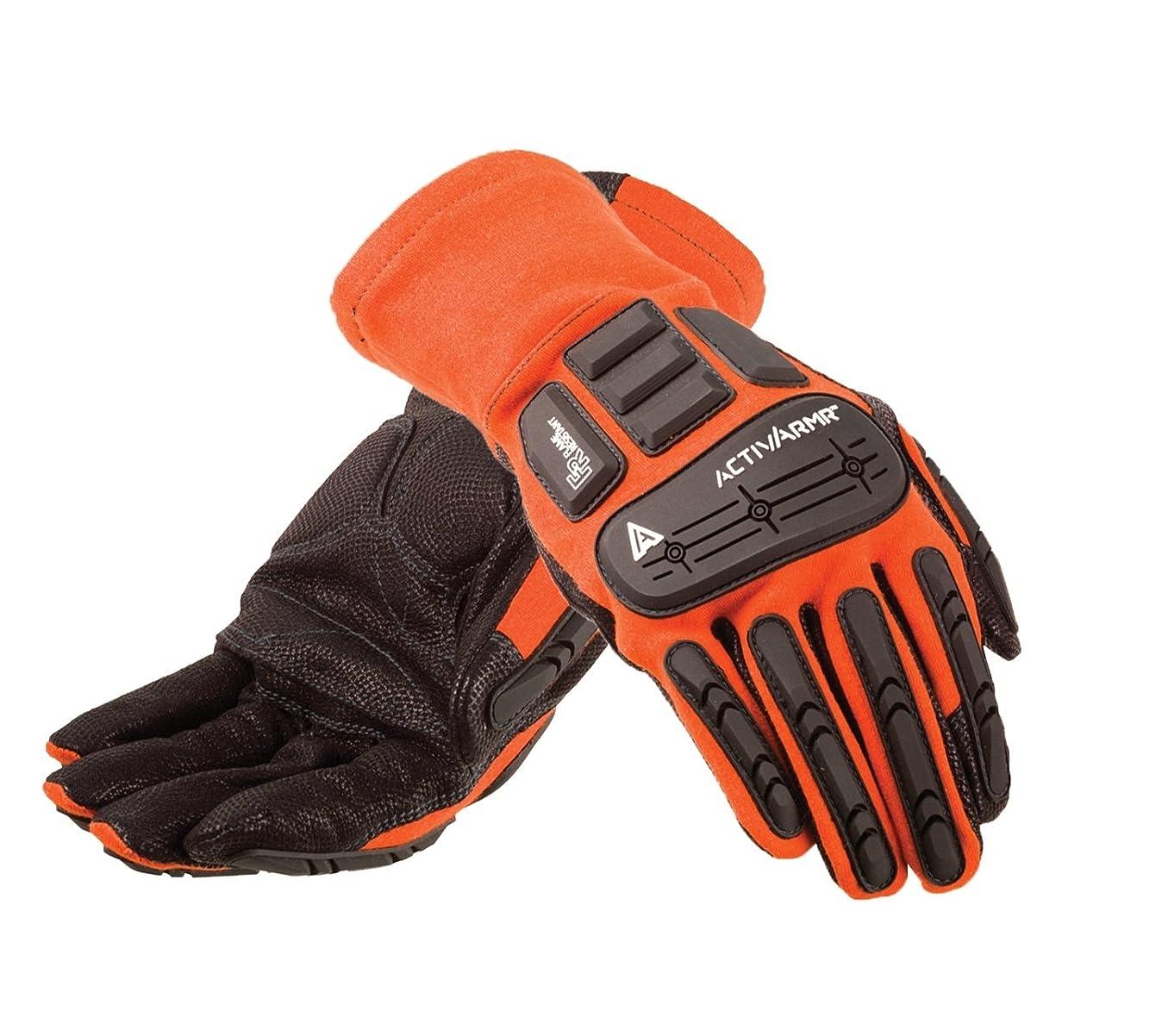 食器棚淡い激怒Ansell ActivArmr 97-200特殊用途手袋、機械的保護、黒、サイズ9(9ペアのパック)