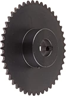 "Tsubaki 35B45F-1 Finished Bore Sprocket, Single Strand, Inch, #35 ANSI No., 3/8"" Pitch, 45 Teeth, 1"" Bore"