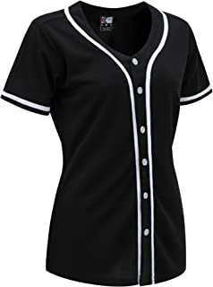 Women Hip Hop Hipster Button Down Baseball Jersey