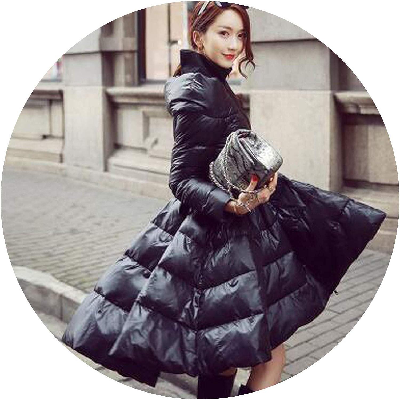 Little Happiness White Duck Down Jacket Women 2019 Warm Coats Fashion Temperament Thin Down Coats Female