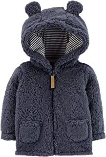 Carter's Zip-Up Sherpa Jacket Navy, Newborn