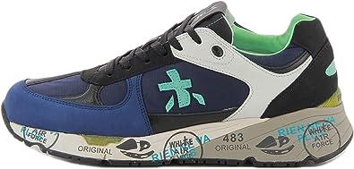 PREMIATA Scarpa Uomo Sneakers in Pelle/Tessuto Blu/Azzurro US20PR11
