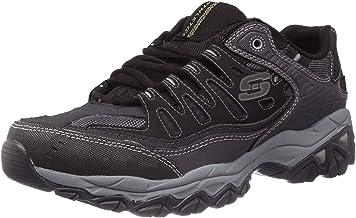 Mens Skechers Leather Wide Fit Memory Foam Walking Gladiator Sandals Shoes Size