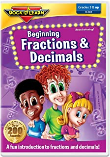 Beginning Fractions & Decimals by Rock 'N Learn