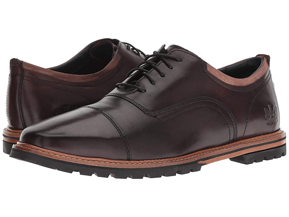 Cole Haan Raymond Grand Cap Toe Oxford (Dark Coffee Handstain) Men