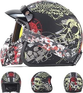 Casco de Motos Retro,Casco Motocicleta Integral ECE ...