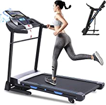 ANCHEER Folding Treadmill, 3.25HP Electric Motorized Automatic Incline Running Machine for Home Gym, 17'' Wide Tread Belt,...