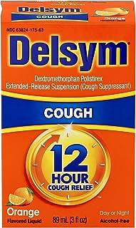 Delsym Adult Cough Suppressant Liquid, Orange Flavor, 3 Ounce