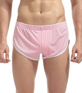 Men's Split Side Boxer Briefs Underwear Breathable Underpants