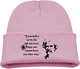 Be Yons Child's Toboggan Hat Winter Hats Winter Mark Twain Witticism2 Skull Cap KnitHat StockingCap