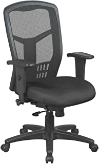Office Star High Back ProGrid Back FreeFlex Seat with Adjustable Arms, 3-Position Locking 2-to-1 Synchro Tilt Control and ...