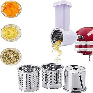 Trancheuse Pour KitchenAid, Ensemble D'accessoires Hachoir à Légumes,en Acier Inoxydable, Set De 5,Pour KitchenAid Batteur...