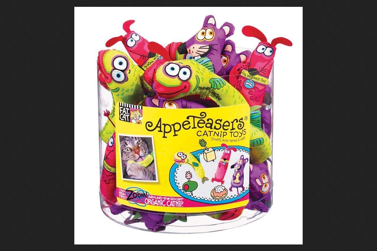 Fat Cat Appeteasers Assorted Max 70% OFF Toy Dedication Small Fabric Catnip