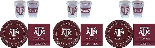 promociones de descuento Westrick Texas A&M Aggies Suministros de de de fiesta – 81 piezas 3-(Pack)  precios al por mayor