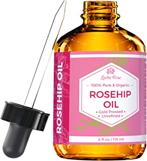 Rosehip Seed Oil by Leven Rose, 100% Pure Organic Unrefined Cold Pressed Anti Aging Rose Hip Moisturizer for Hair Skin & N...